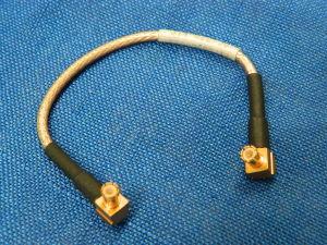 Cavetto RG316 intestato MCX-M90°/MCX-M90° cm. 12