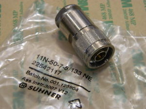 Coaxial connector N male SUHNER 11N-50-7-5/133NE