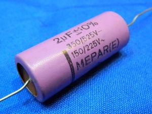2MF 525Vcc MEPAR(E)  impregnated paper plastic capacitor