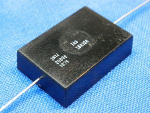1100pF 2.000Vdc TAB SBA108 silver/mica capacitor