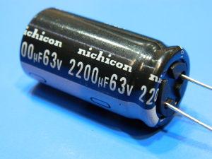 2200uF 63V capacitor Nichicon VZ(M) 105°