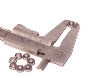 Microcuscinetto di precisione con flangia m.m. 8x3,2x3 interno (10 pezzi)