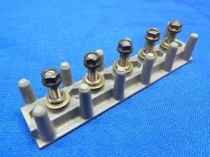 Morsettiera avionica LS35076-2-05,  mm.107x23 5 posti