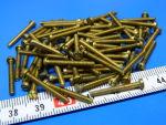 Vite amagnetica ottone M2,5x20 testa cilindrica (50 pezzi)