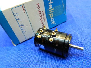 Precision potentiometer 20Kohm+20Kohm Helipot ST940, gold pin