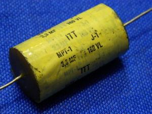 3,3uF 160Vcc Condensatore ITT non polarizzato per crossover