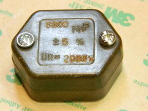 6800pF 2000Vdc mica capacitor