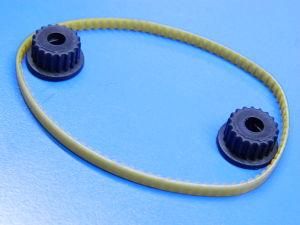 Coppia pignoni con cinghia dentata