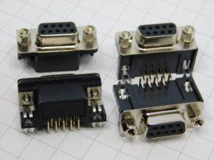 Connettore D-SUB 9 pin femmina 90° circuito stampato (n.4 pezzi)