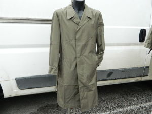 Military raincoat green