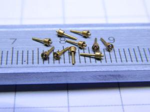 Golden insulated pin (10pcs.)