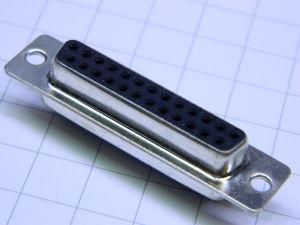 Connettore D SUB 25 pin femmina contatti a saldare