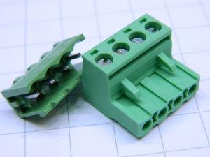 Connettore completo 4pin circuito stampato passo mm. 5