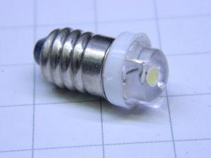 Lampadina Led E10 6Volt 1Watt ricambio modifica per torce