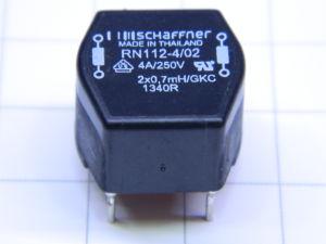 Choke SCHAFFNER 2x0,7mH 4Amp 250Vac 50/60Hz