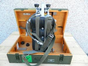 2xBombola aria compressa  AUER , zaino, rubinetteria DIN, sdoppiatore e tubo in cassa stagna di legno multistrato.