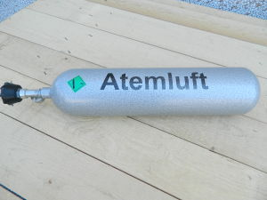 Breathing air cylinder AUER 4 liters 200BAR