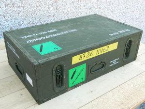 Cassa in legno stagna tipo militare dim. cm. 67,5x40x20  contenitore tipo valigia