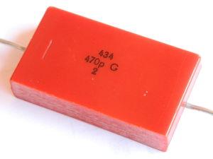 470pF 2,5KV condensatore mica argento LCC silver capacitor