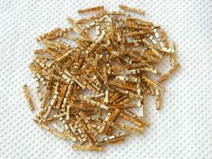 Contatto pin dorato femmina volante diam. mm. 1 (n.100 pezzi)