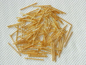 Pin gold plated mm. 22x1 (100pcs.)