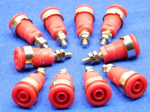 Socket banana 4mm. red (n.10pcs.)