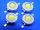 LED 1W bianco caldo 100LM (n.4 pezzi)