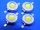 LED 1W cold white 100LM (n.4pcs.)