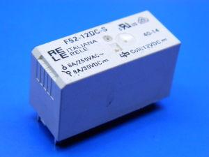 Relè 12Vcc 2 scambi 8A circuito stampato, Italiana Relè F52-12DC-S