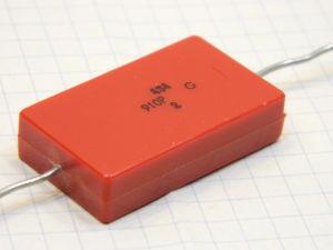 910pF 2500V silver/mica capacitor