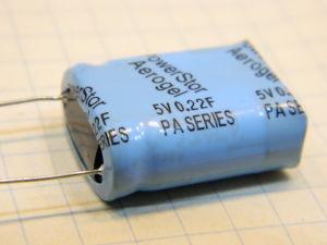 0,22Farad 5Vcc supercondensatore