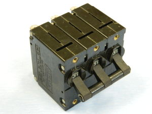 Circuit breaker AIRPAX UPGH113-IREC2-23093-1   2 phase ac + 1 phase dc