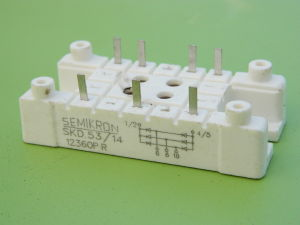 SKD 53/14 Semikron 3 phase bridge rectifier 53A 1400V