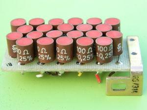 100ohm 0,25% resistenze Siemens, matrice di n. 22 pezzi