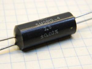 2,5ohm 0,02% resistor PRC