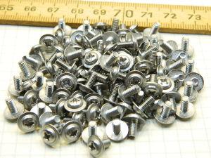 Screw inox M3x6 large head (100pcs.)