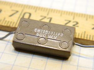 330pF 500Vcc condensatore mica/argento