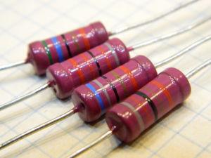 500Kohm 2% 1W metallic film (4pcs.)