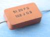 1000pF 500Vcc condensatore mica argento