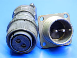 Connector 2 pin plug female, socket male 50Amp