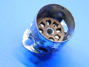 Tube socket 7pin with base for shield
