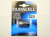 Batteria Litio Duracell 123, Dl123A/EL123A/CR123A/CR17345  3volt Lithium