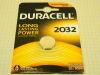 Lithium battery 2032 Duracell  3volt