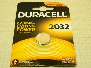 Batteria Litio 2032 Duracell,  3volt Lithium