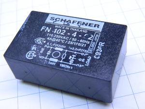 Filtro antidisturbi Schaffner 110/250Vac 4A  FN402-4-02  circuito stampato