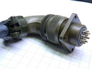 Connettore completo 10pin femmina volante 90°, maschio pannello Cannon MS3108B18-1S