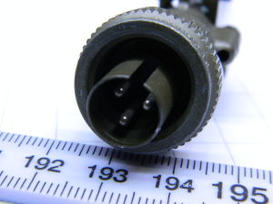 Connector plug male 3pin MS3106E10SL-3P ITT Cannon
