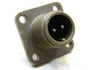 Connector receptable male 2pin MS3102E-10SL-4P Cannon
