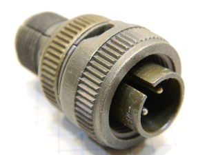 Connector plug male 2pin MS3106B12S-3P Cannon