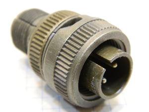 Connector plug male 2pin MS3106B12S-3P Cannon